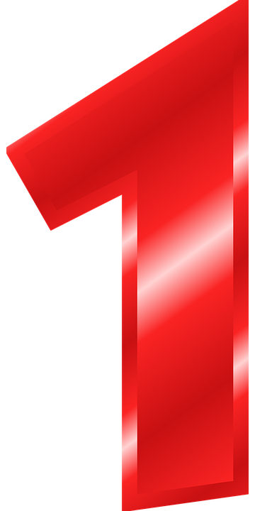 number 1 digit vector graphic #14144
