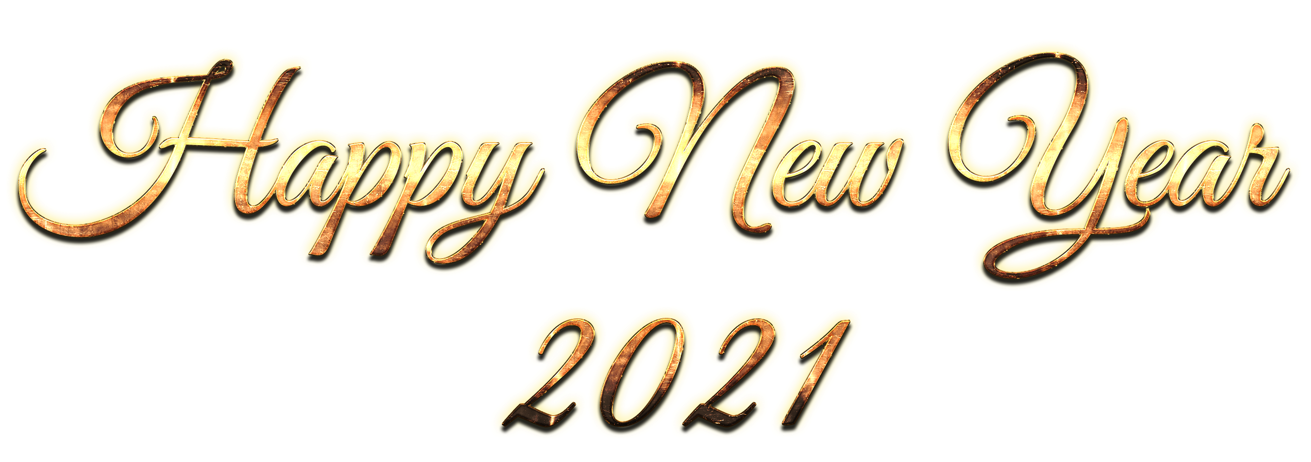 Golden 2021 new year free png download #41571