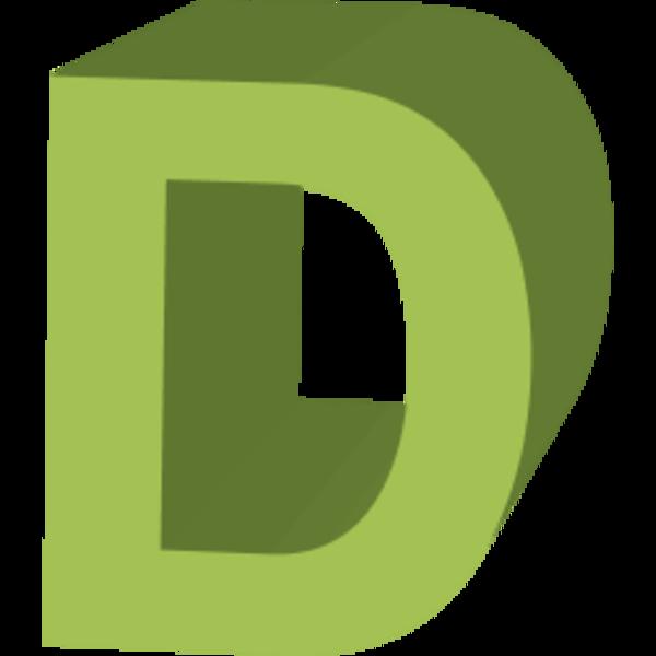 3D D letter logo png #1387