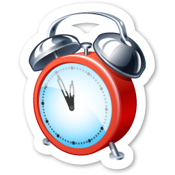 alarm clock icon magnets icons softiconsm #24249