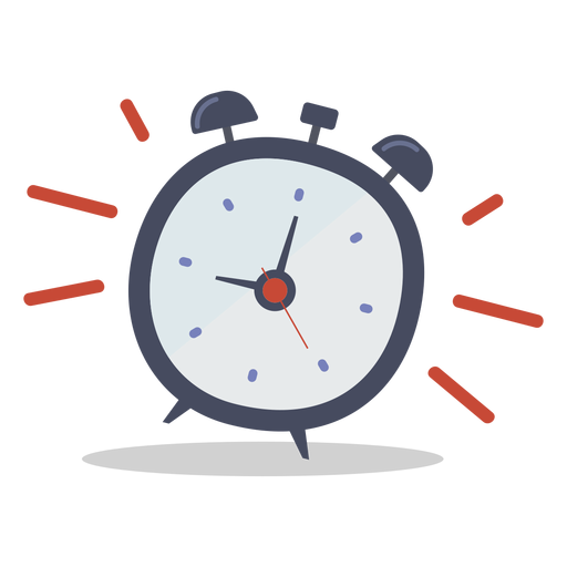 alarm clock ringing doodle transparent png svg vector #24236