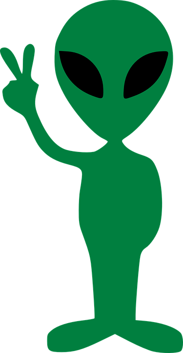alien gesture peace victory vector graphic pixabay #22365