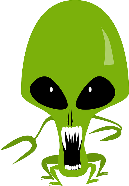 vector graphic alien cosmic monster space #22352