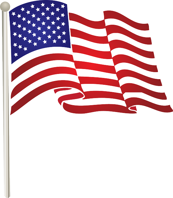 american flag vector graphic flag united states american #38749