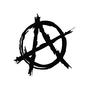 amazonm anarchy symbol black sticker decal #34572