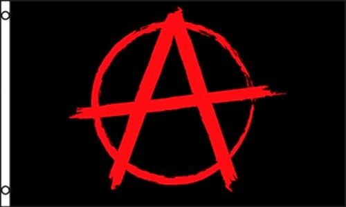 anarchy symbol anarchy flag banner red black circle anarchism #34617