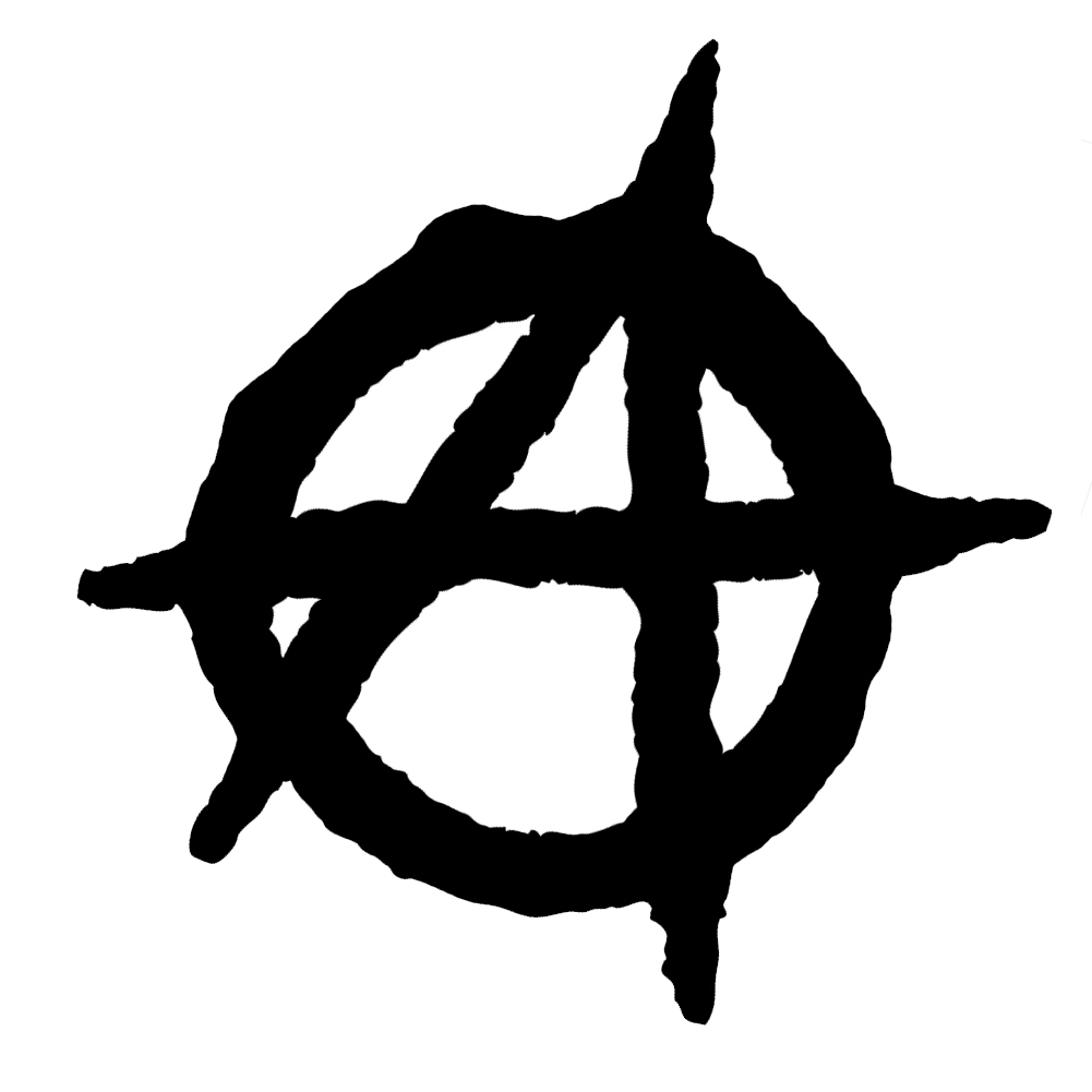anarchy symbol outline vinyl sticker car decal #34619