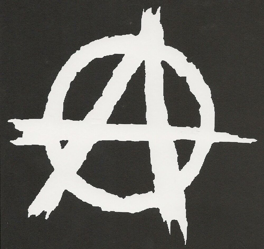 anarchy symbol sticker chaos funny decal outdoor car boat #34586