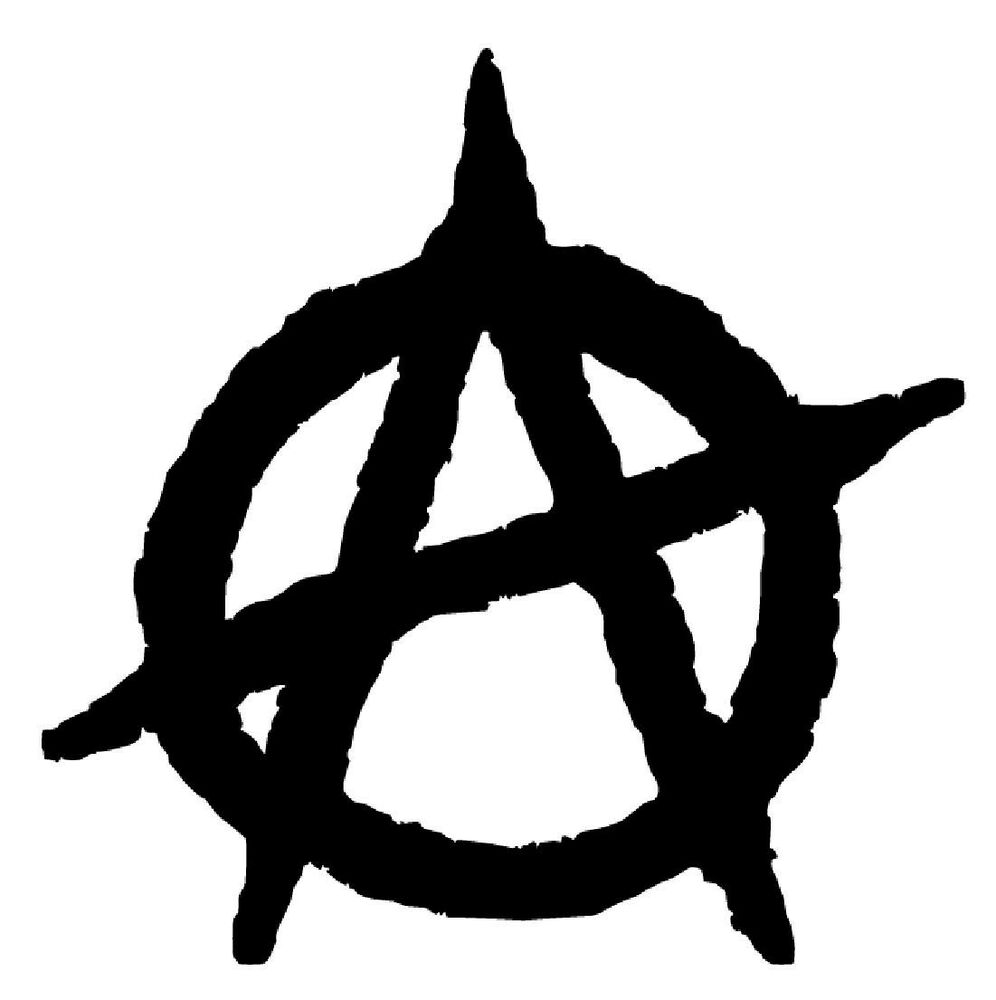 anarchy symbol vinyl decal sticker car window wall bumper #34568