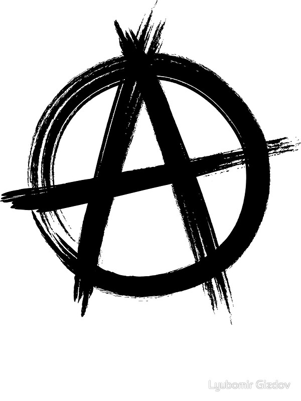 quot circle anarchy symbol light shirt version quot stickers #34581
