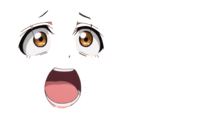 anime face shock