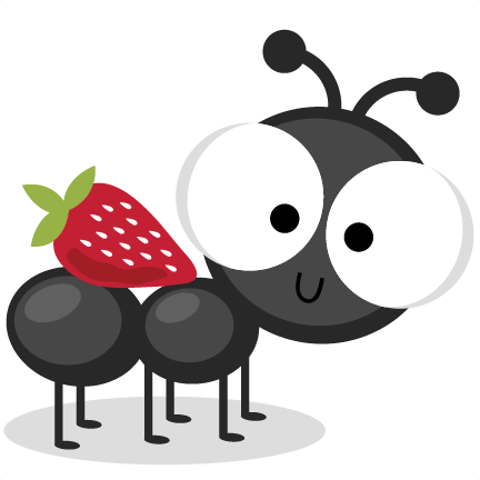 ant with strawberry svg cutting files ant svg cuts ant scal files cutting files for cricut svgs #28948