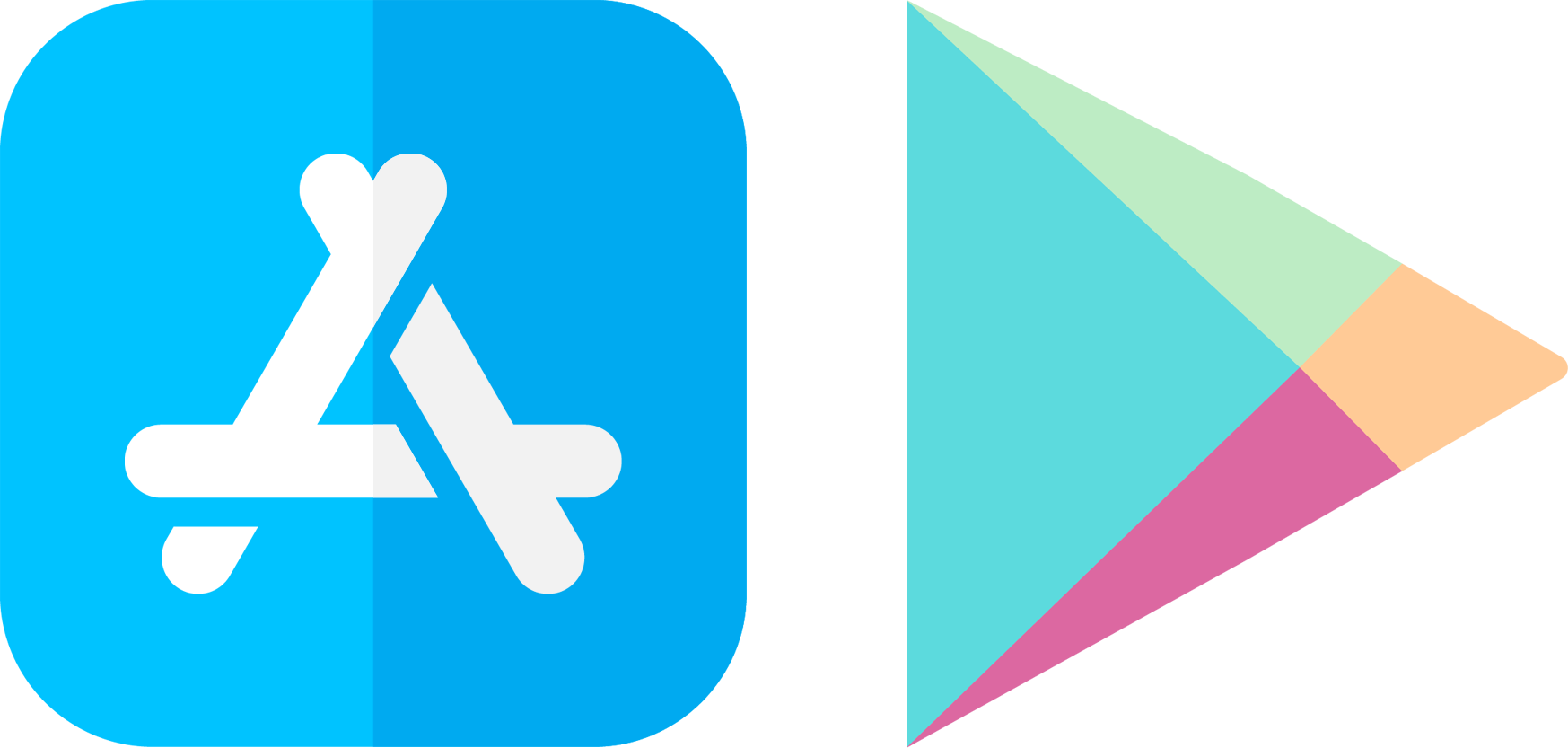 app store and play store logos #33106