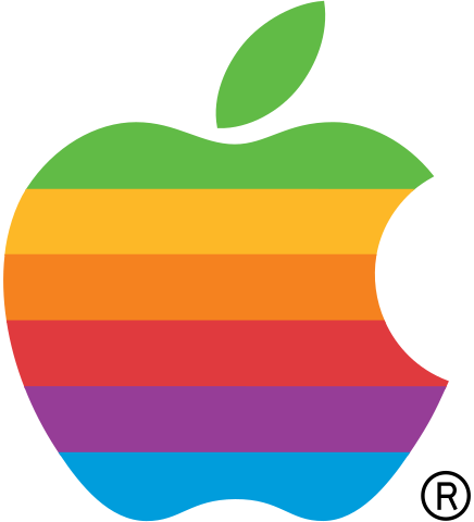 apple logo png file apple computer logo rainbow svg wikibooks open #9740