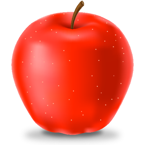 red apple icon fruits svg vector domain icon #11686