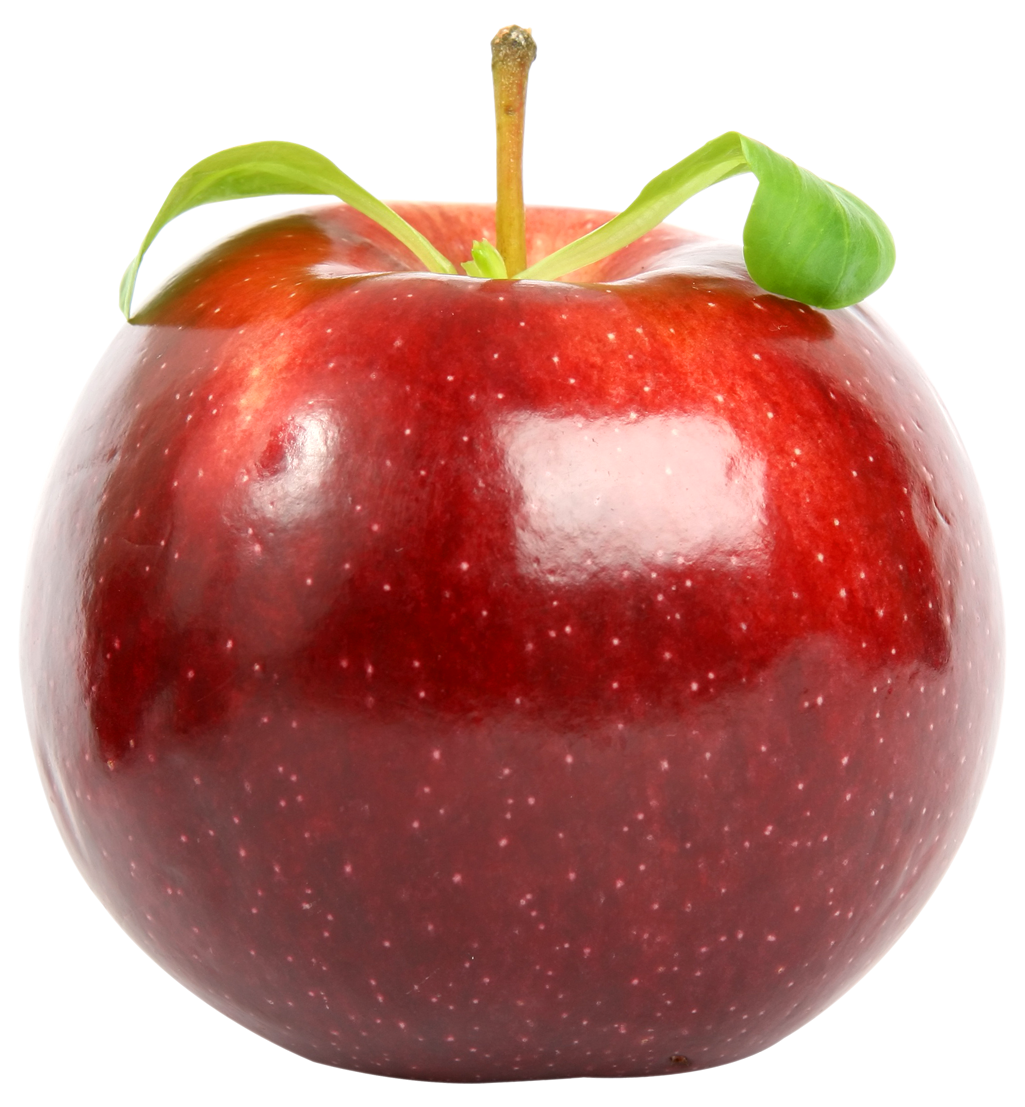 red apple with leaf png image pngpix 11748