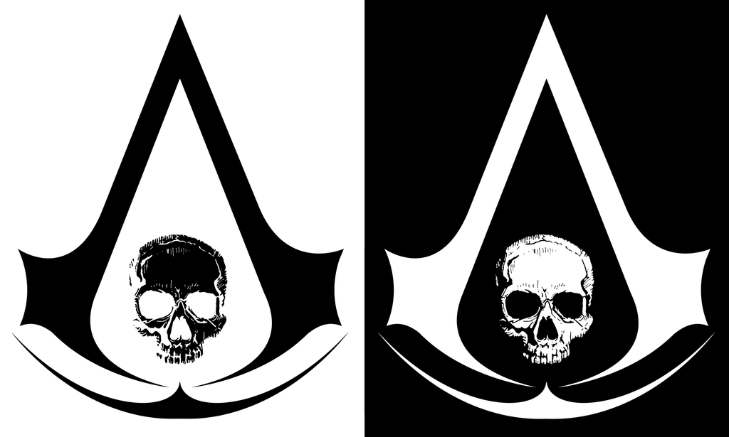 assassins creed logo, assassin creed black flag skull logo ceekaysickart #22695
