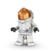 astronaut, lot lego city space center shuttle 24509