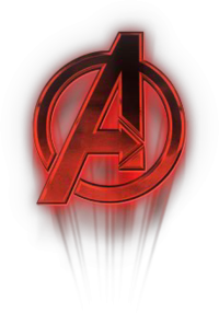 red and dark avengers logo png #4991