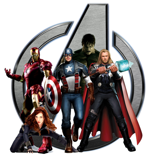 marvel avengers logo with avengers superher picture #40997