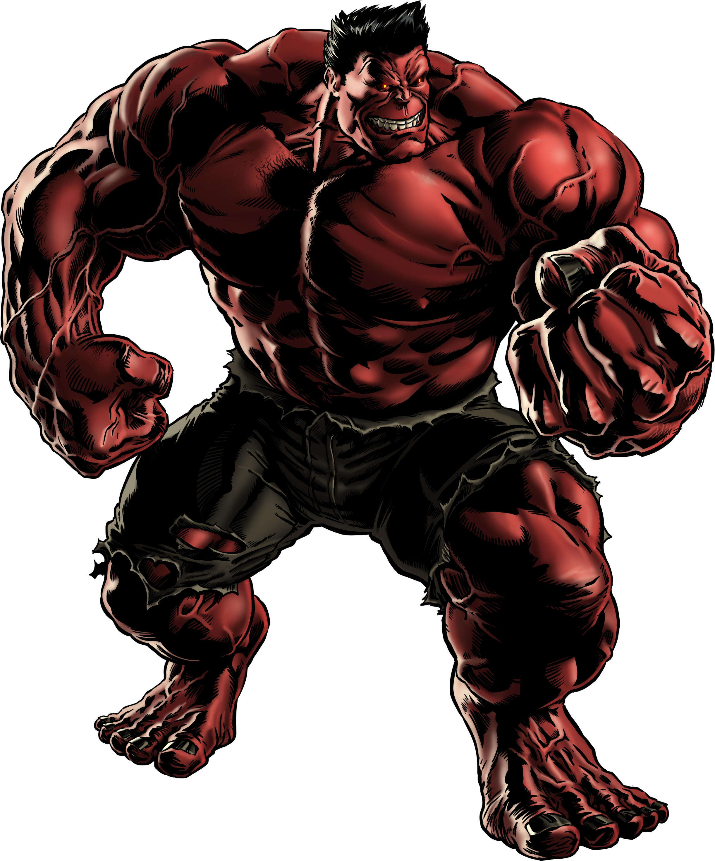 red hulk portrait png #41007