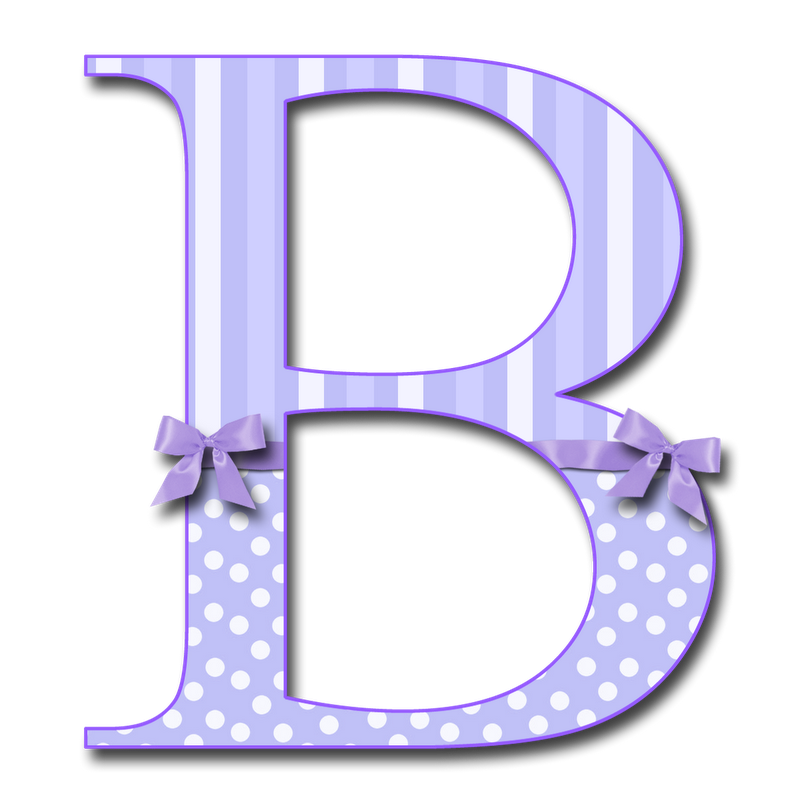 b letter granny enchanted blog quot purple fluff with bows quot png #34948