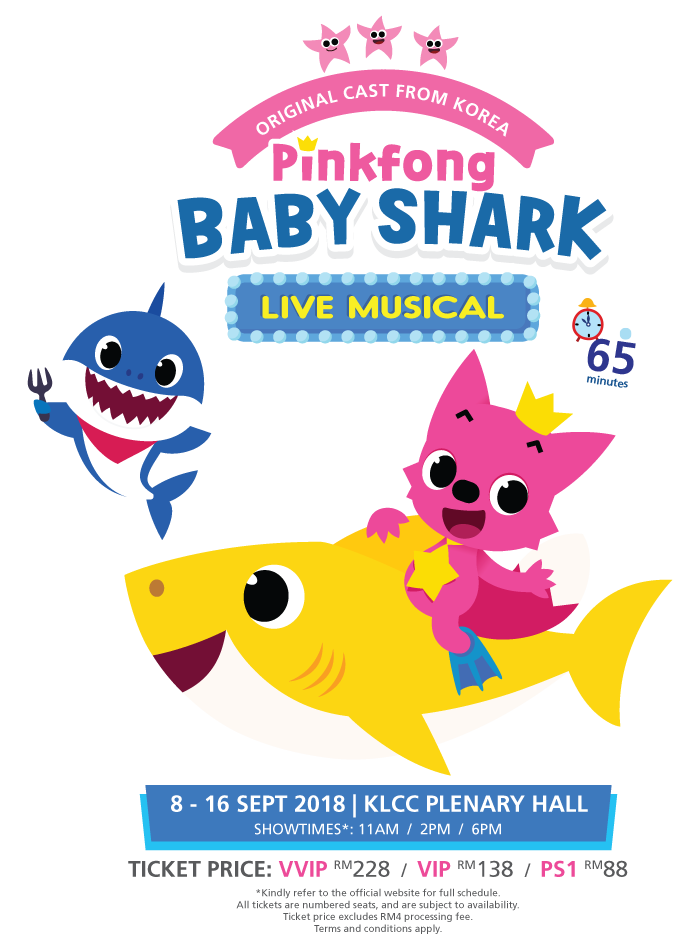 pinkfong baby shark live musical poster #37588