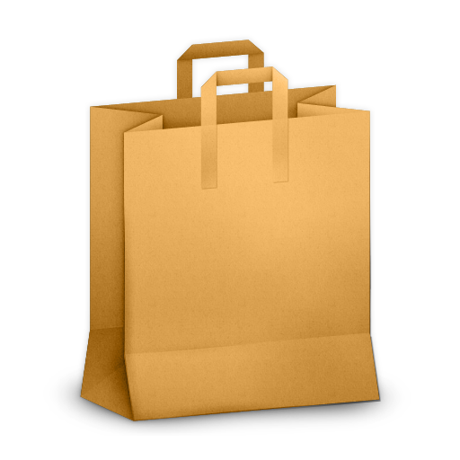 paper bag orange icon paper bag icons softiconsm #21086