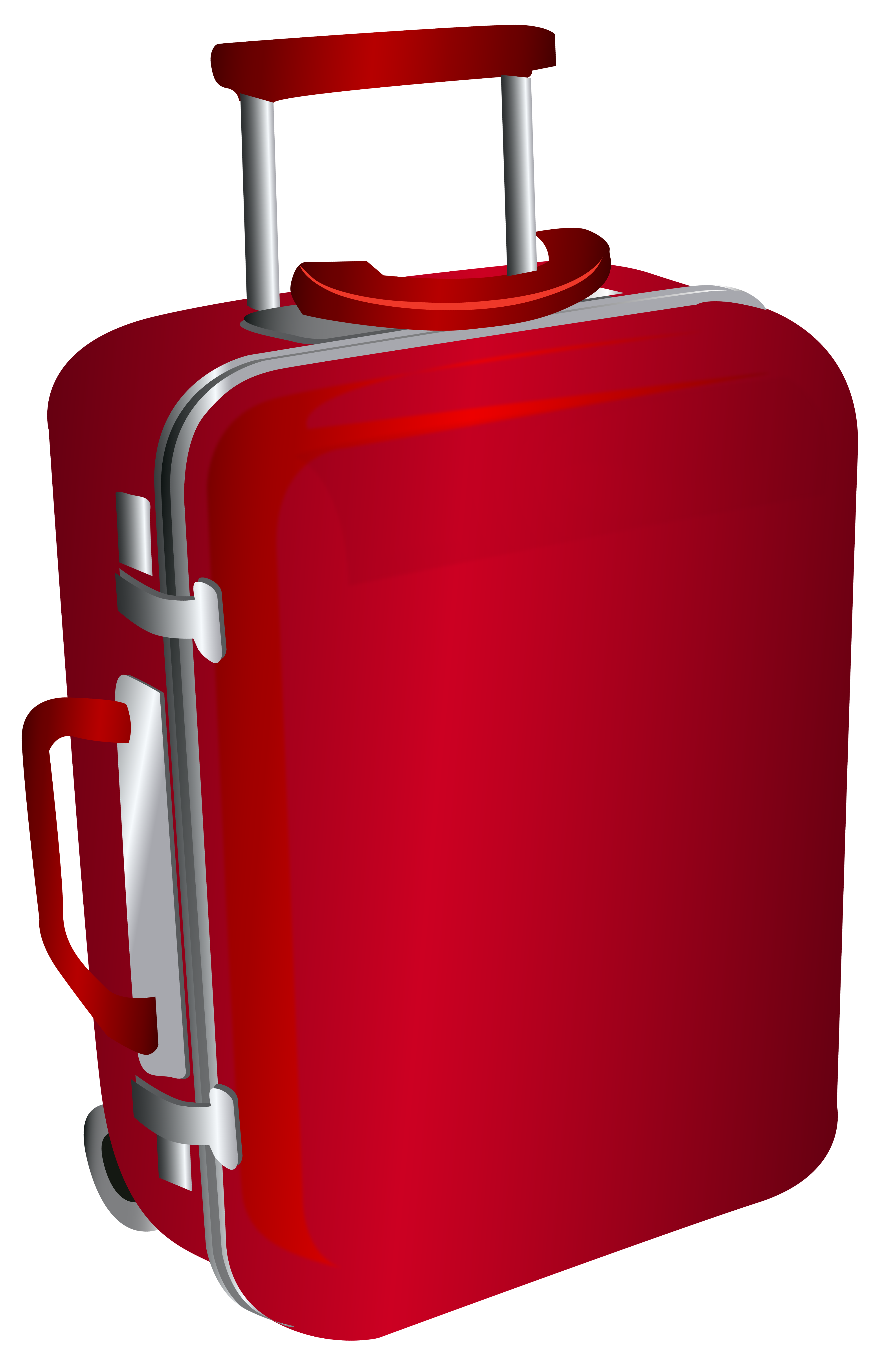 red trolley travel bag png clipart image #21071