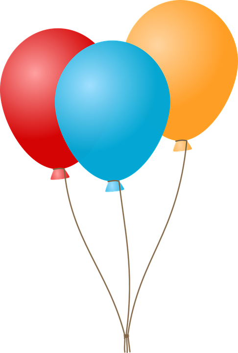 balloons decorations party vector graphic #9339