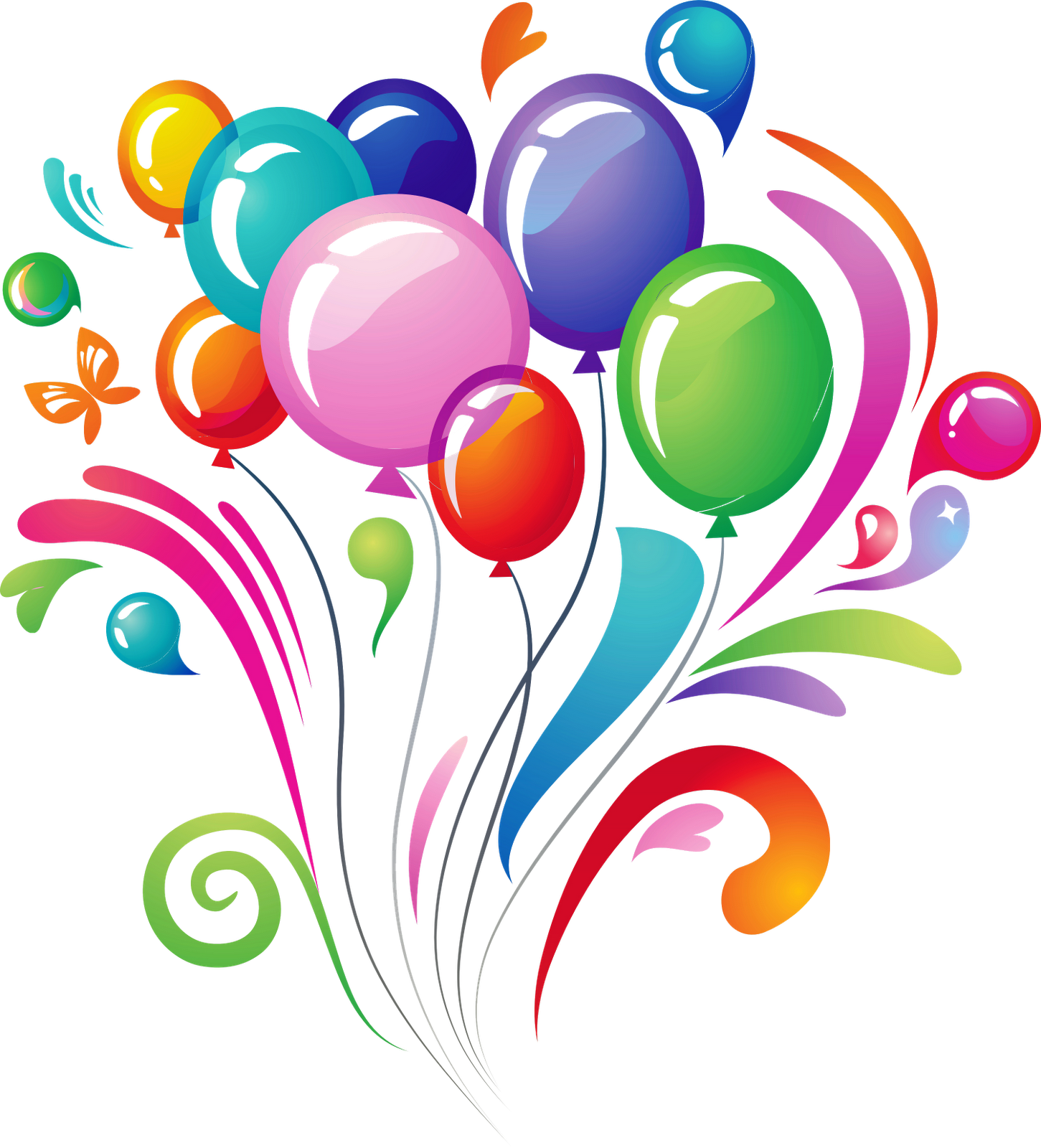 birthday balloons png download clip art #9353