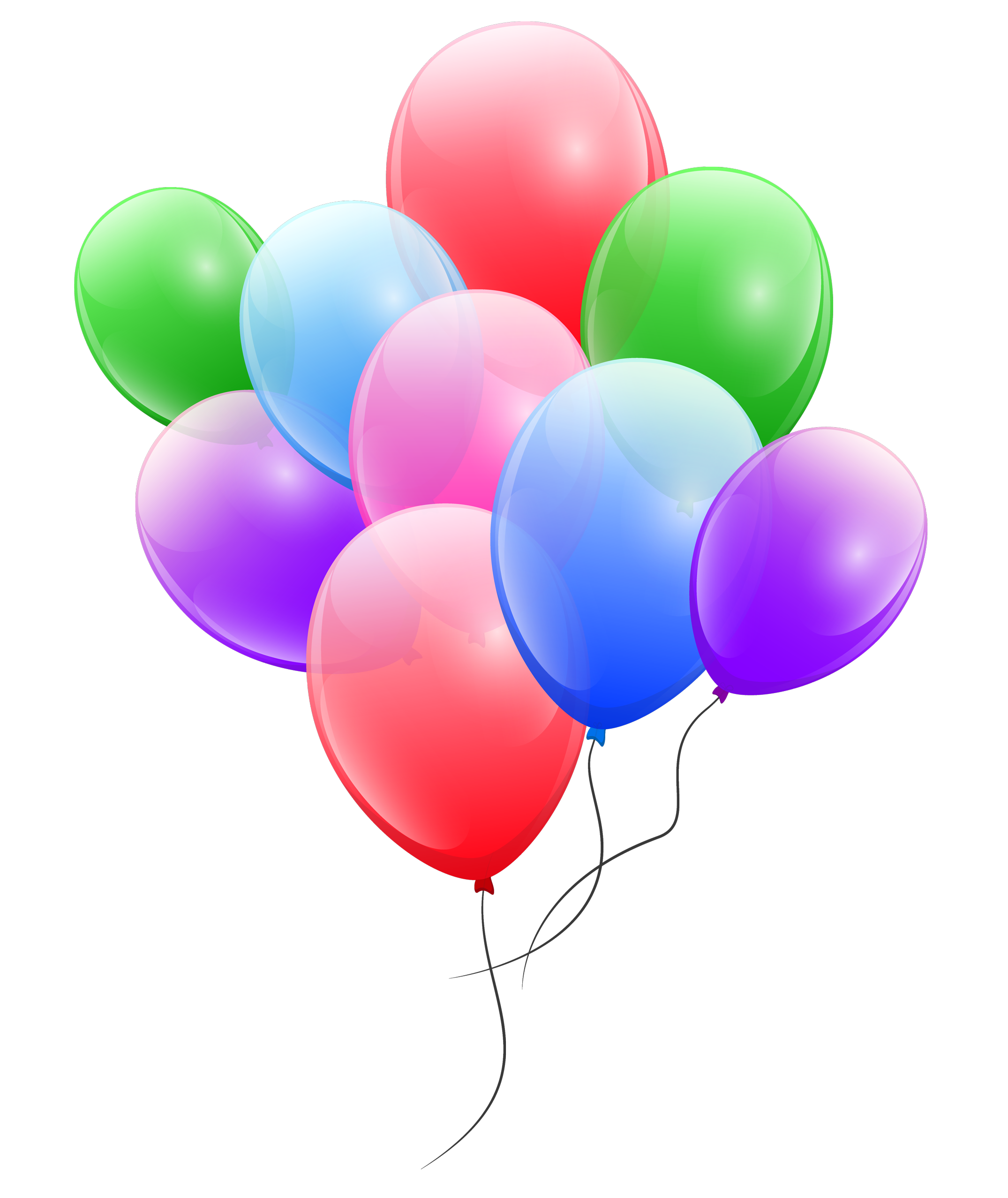 colorful balloons png image pngpix #9331