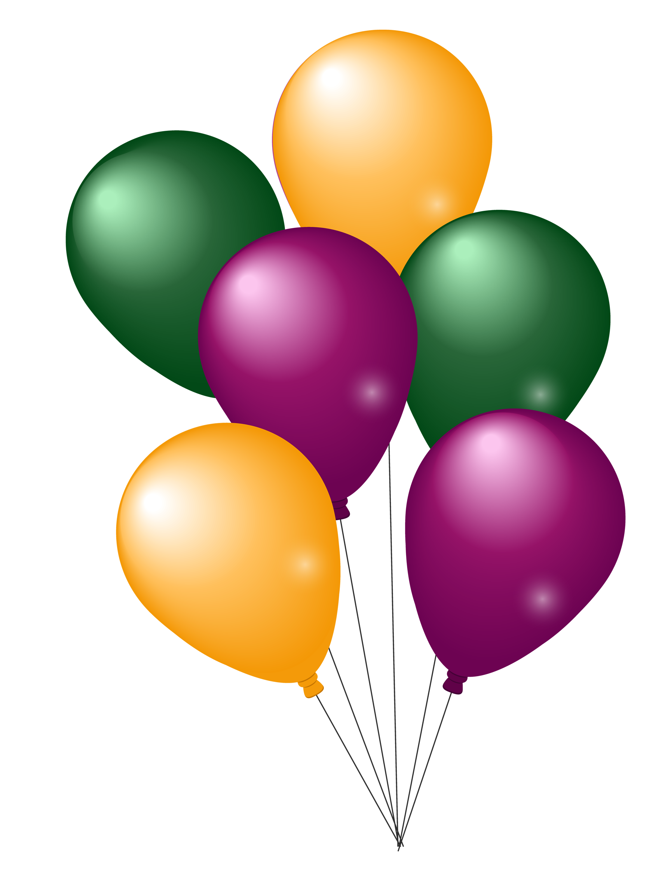 colorful party balloons png image pngpix #9337
