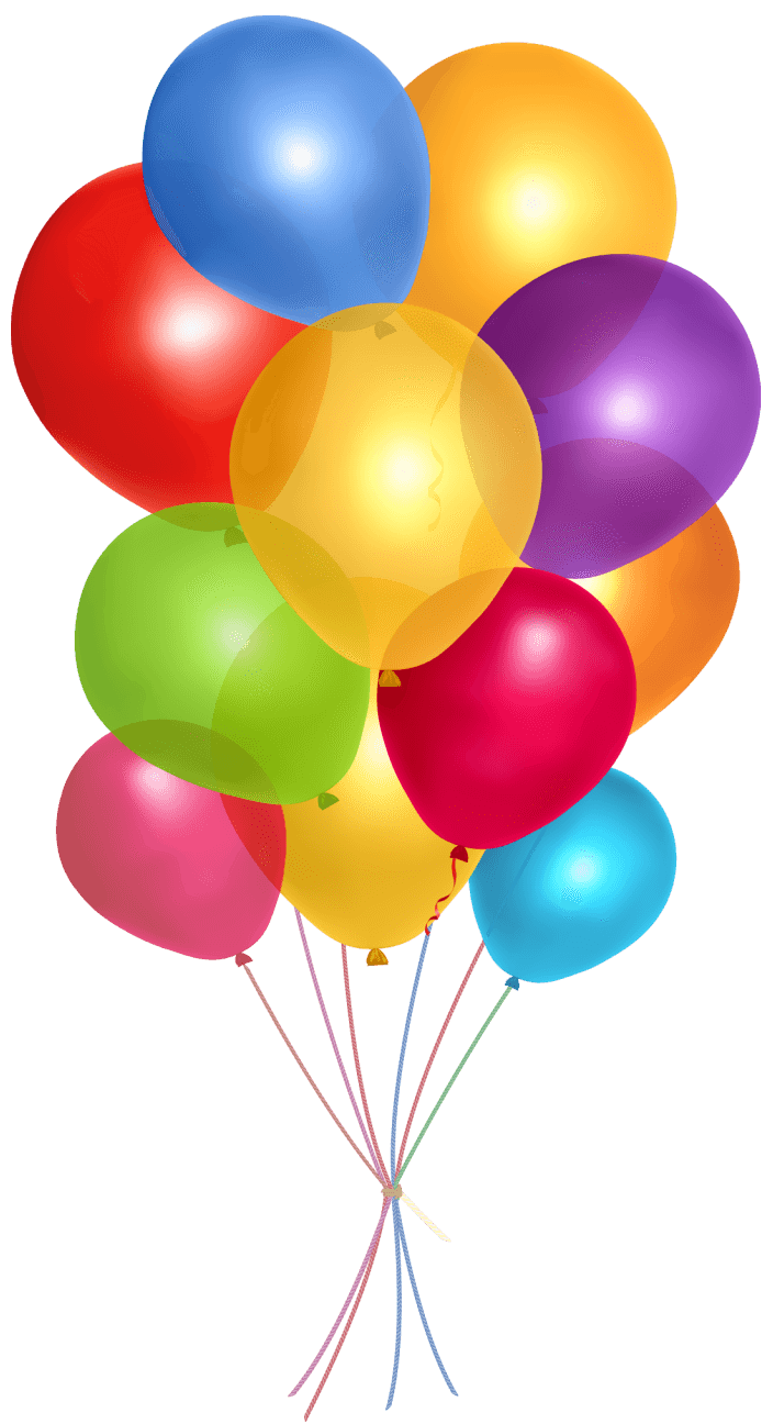 simple group balloons transparent png stickpng #9322
