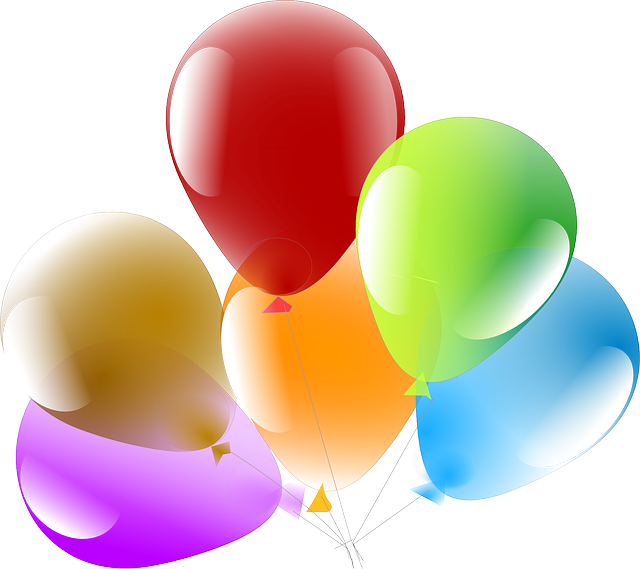 vector graphic balloons party celebration #9333