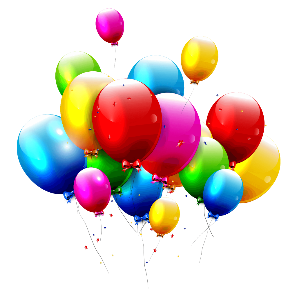flying colorful balloons image download png #38982