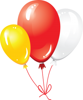 yellow, red and white balloons png #38981