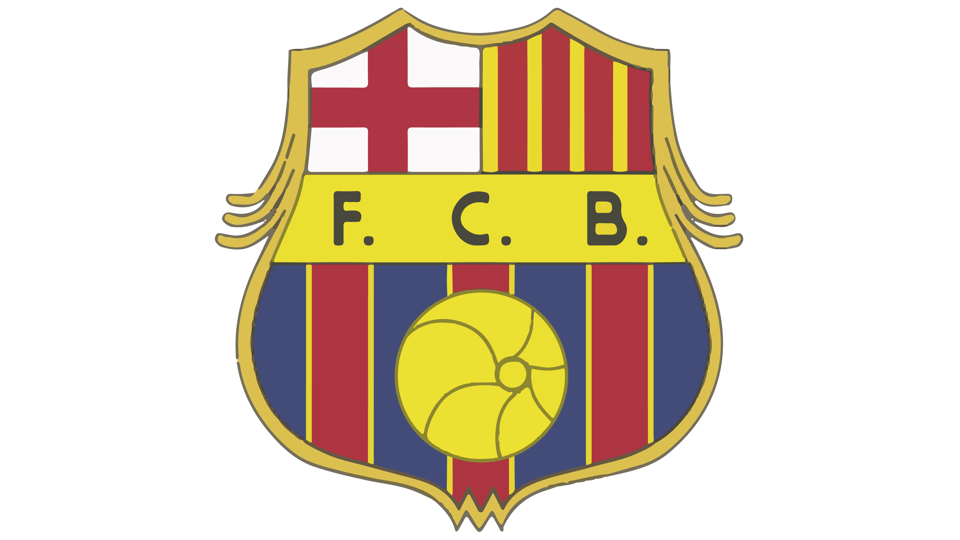 barcelona logo interesting history the team name and #12204