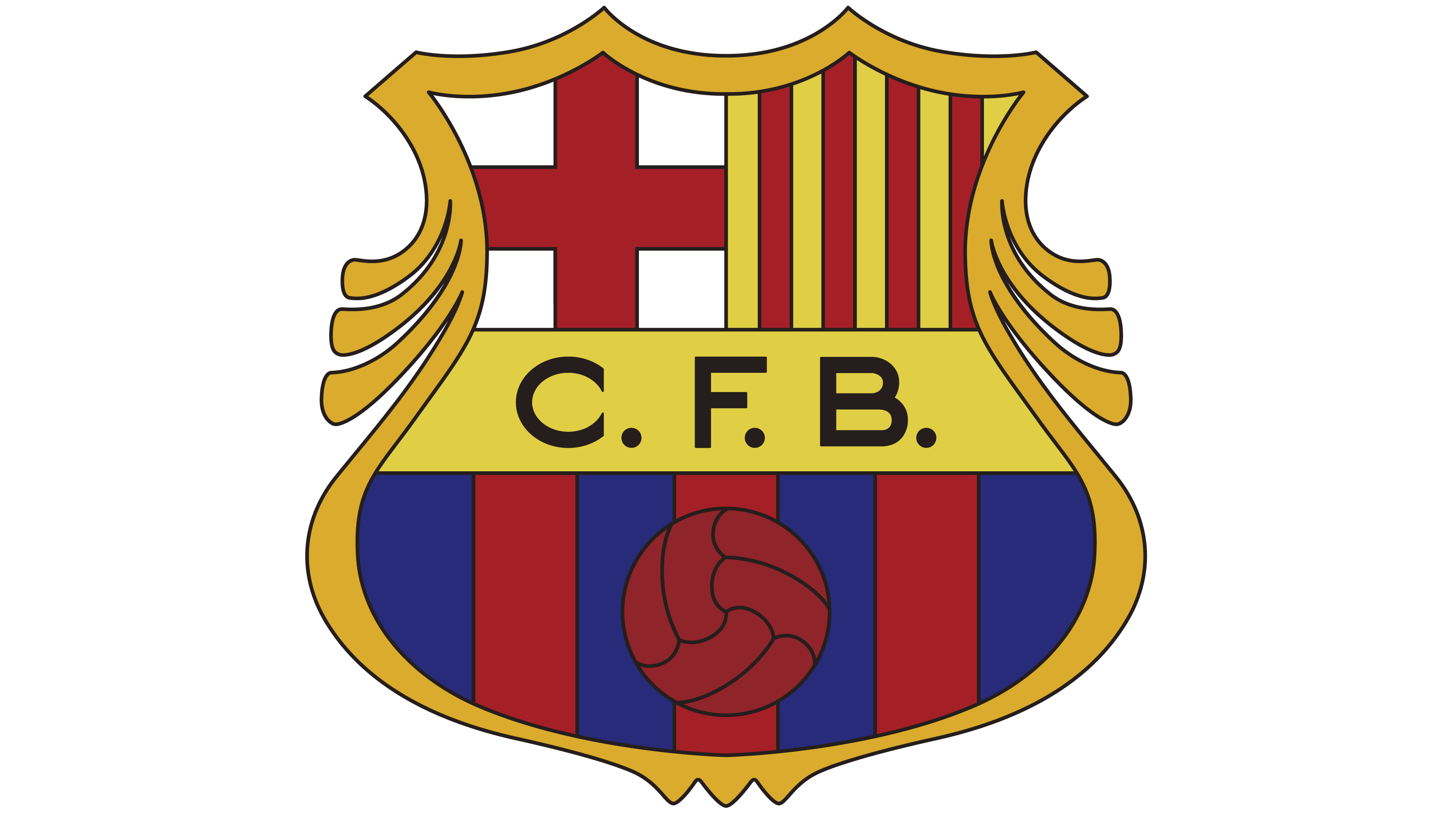 barcelona logo interesting history the team name and #12153
