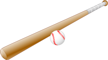 baseball bat and ball transparent png stickpng