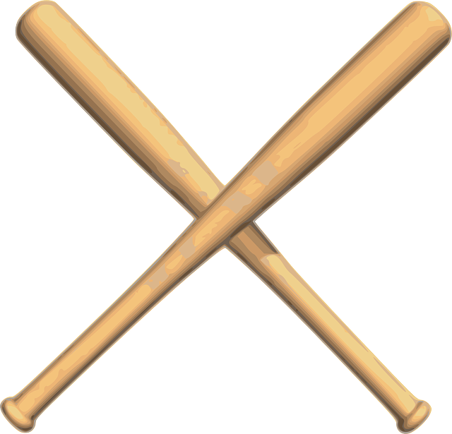 baseball bat, baseball bats crossed vector graphic pixabay #20655