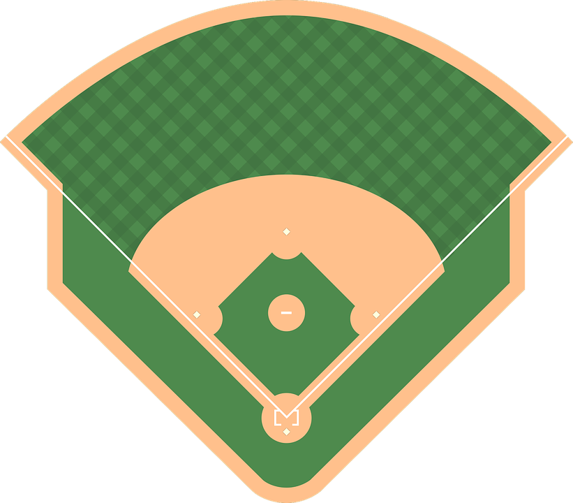 baseball field sports vector graphic pixabay #18884