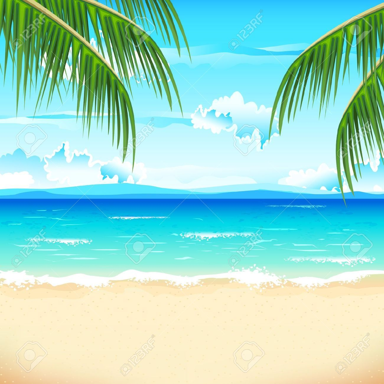 beach clipart, the prices for photos and vector images are low #31672