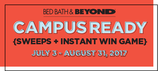 bed bath beyond, campus ready sweeps + instant win game png logo 5801