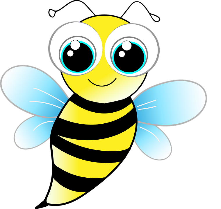 vector graphic bee wasp funny cute insect #18980