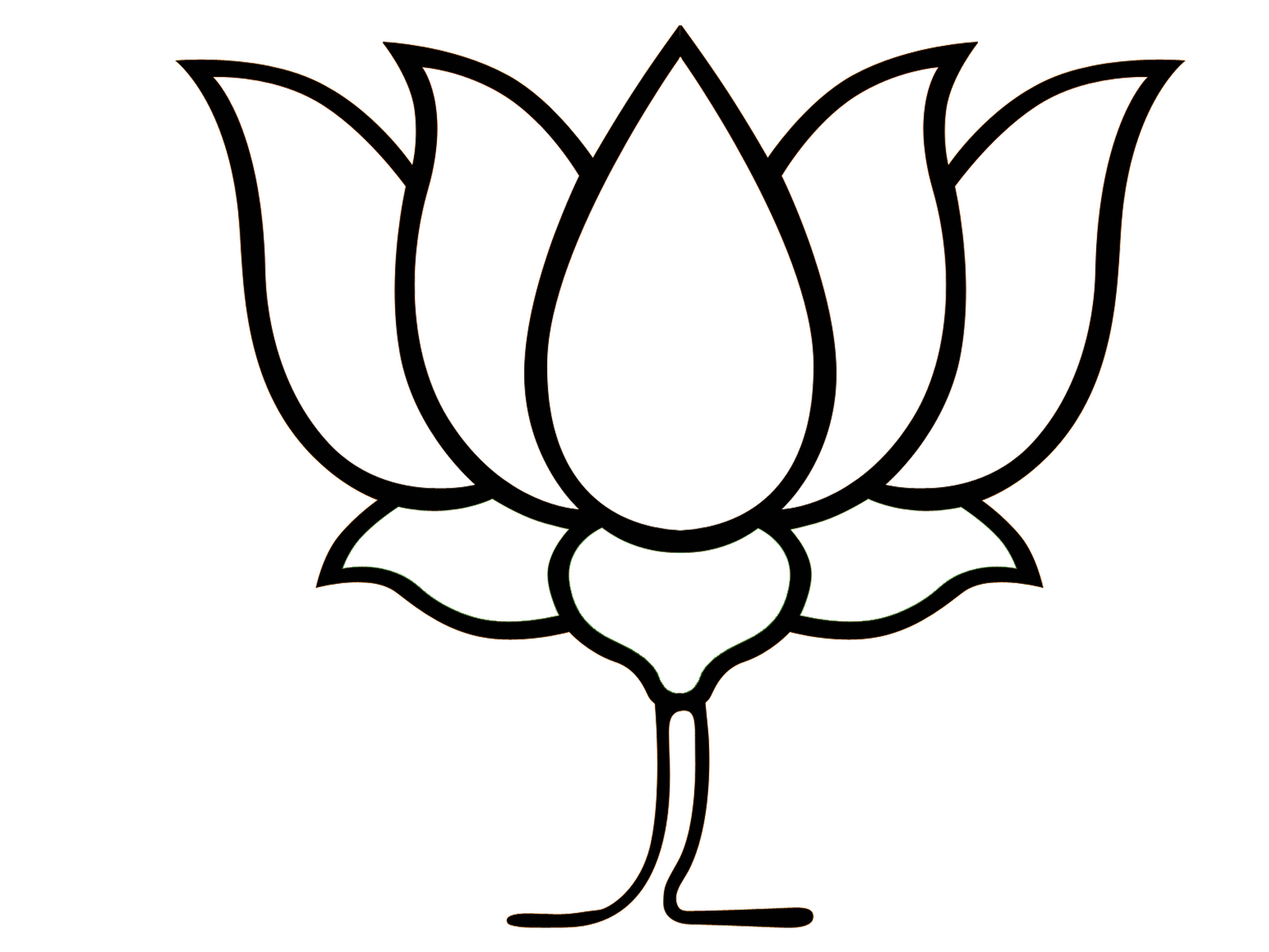 logo outline bjp