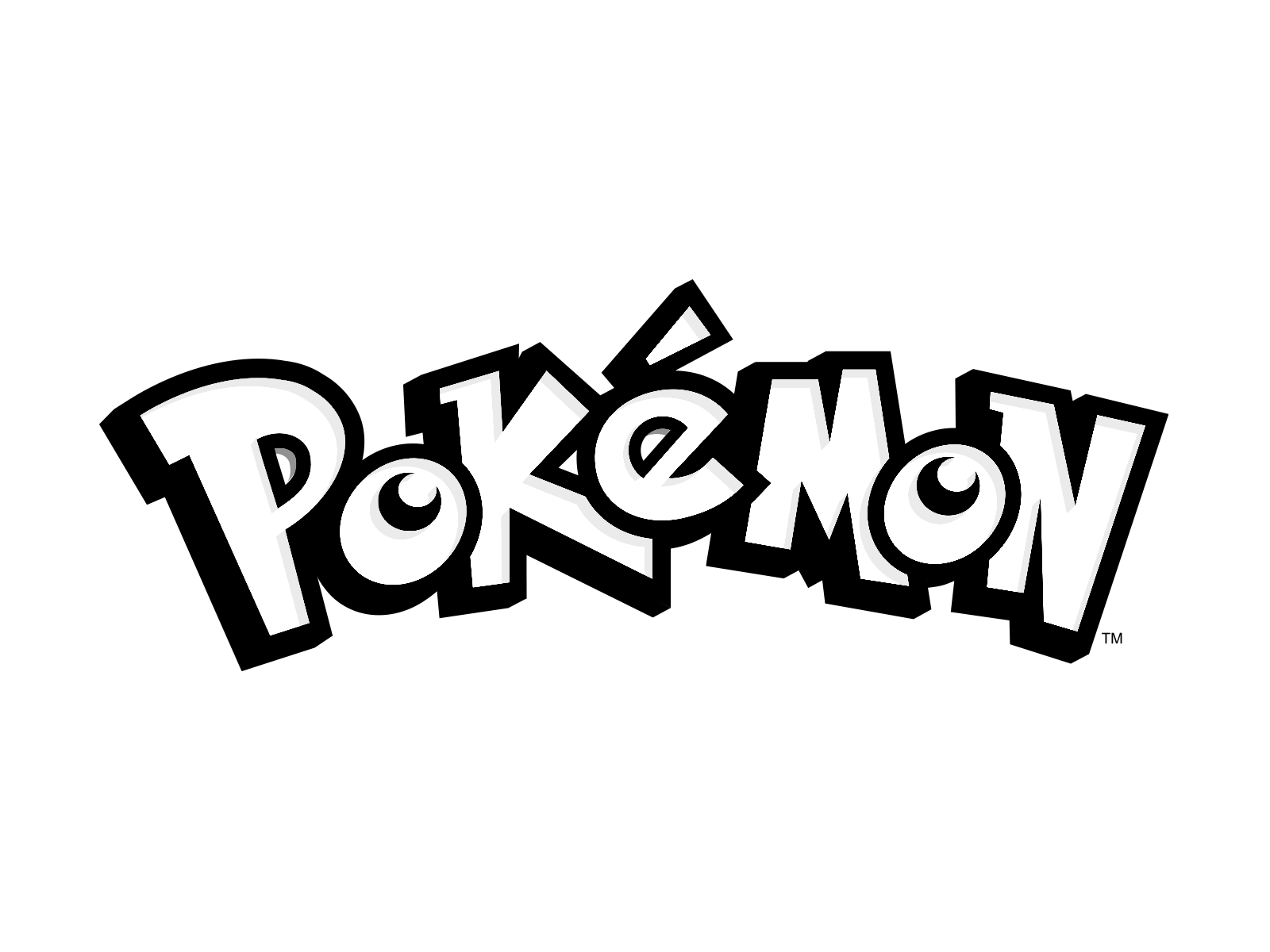 Black Pokemon Logo Transparent #1444