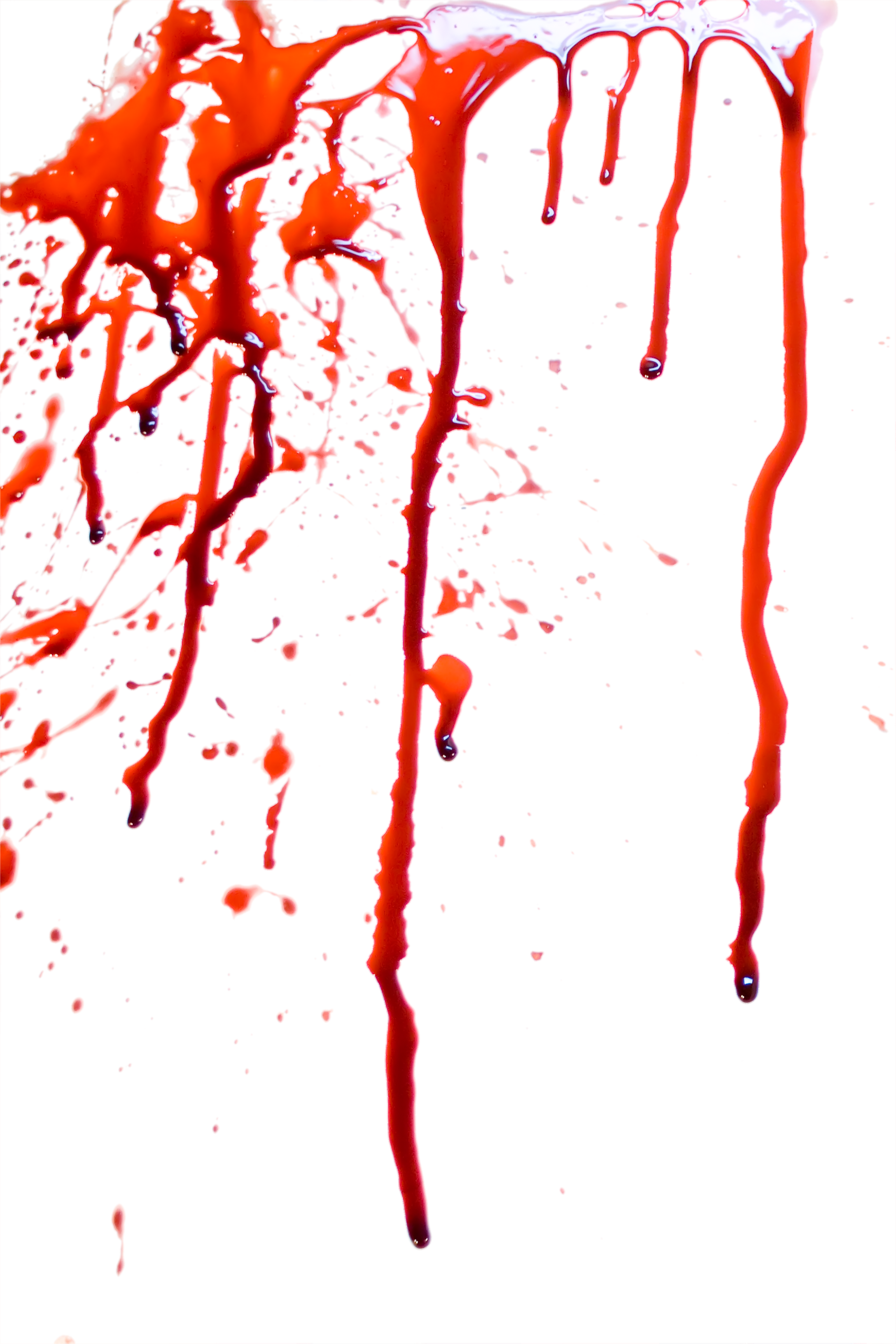 blood splatter seven isolated photo #8365