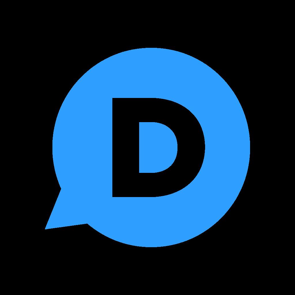 blue d letter logo png #1378