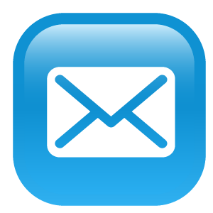 blue glass email logo png